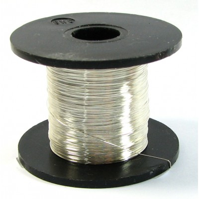 Spool Silver Plated Copper Jewellery Wire 0.5mm