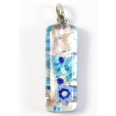 Murano Glass Pendant Thin Oblong