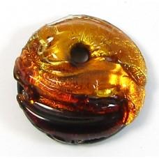 1  Murano Glass Round Pendant - Topaz Shades