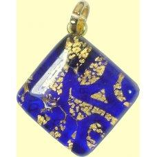 Murano Glass Diamond Pendant Diamond Sapphire
