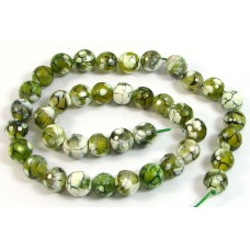 1 Strand Dyed Green Fire Agate Round Beads 10mm