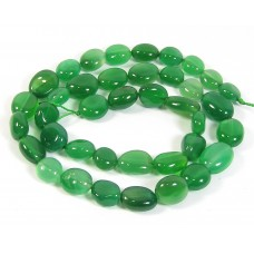1 Strand Green Agate Nuggets