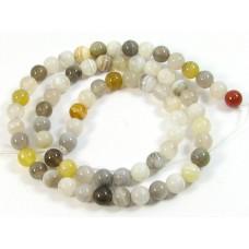 1 Strand Botswana Agate 6mm Round Beads