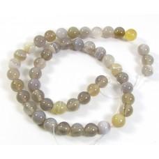1 Strand Botswana Agate 8mm Round Beads