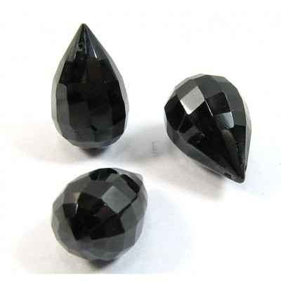 1 AA Quality Black Onyx Top Drilled Briolette