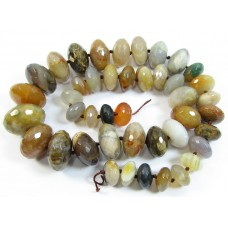 1 Strand Graduated Agate Faceted Rondelle Beads