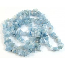 1 Strand Aquamarine Chip Beads