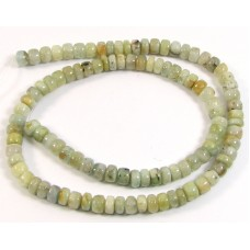1 Strand Aquamarine Button Beads