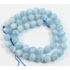 1 Strand Aquamarine 6mm Round Beads