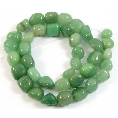 1 Strand Green Aventurine Nugget Beads