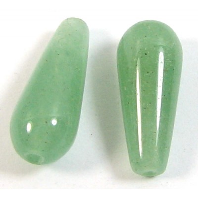 2 Green Aventurine Drops