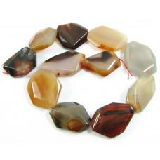 1 Strand Carnelian Slab Beads