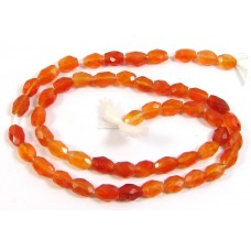 1 Strand Carnelian Faceted Oval Beads