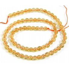 1 Strand Citrine 4mm Round Beads