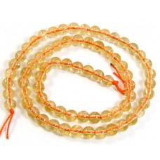 1 Strand Citrine 6mm Round Beads