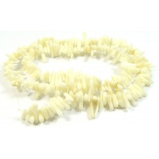 1 Strand White Coral Chip Beads