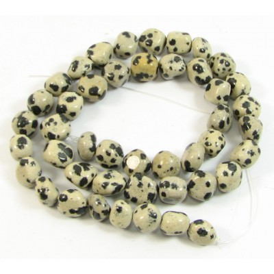 1 Strand Dalmatian Jasper Nugget Beads