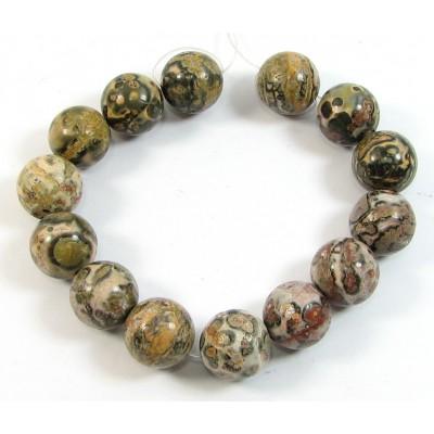 1 Short Strand Ocean Jasper 12mm Round Beads