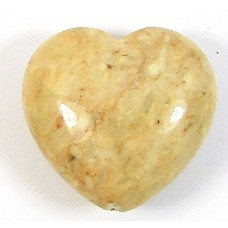 1 Dyed Peach Jasper 20mm Heart Bead