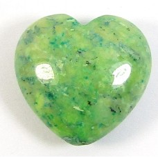 1 Dyed Sea Green Jasper 20mm Heart Bead