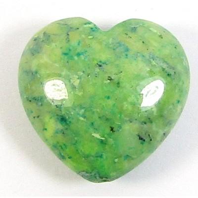 1 Dyed Sea Green Jasper 20mm Heart Bead