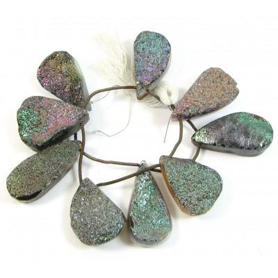 1 Short Strand Drusy Quartz Beads