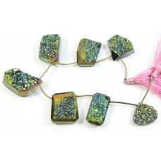 1 Strand Titanium Drusy Quartz Beads