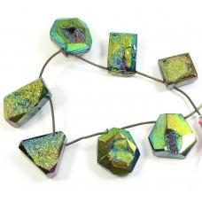 1 Strand Titanium Druzy Quartz Beads