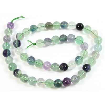 1 Strand Rainbow Fluorite 8mm Round Beads