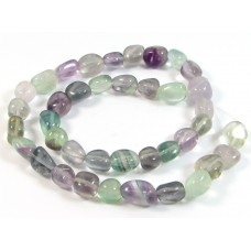 1 Strand Fluorite Nugget Beads