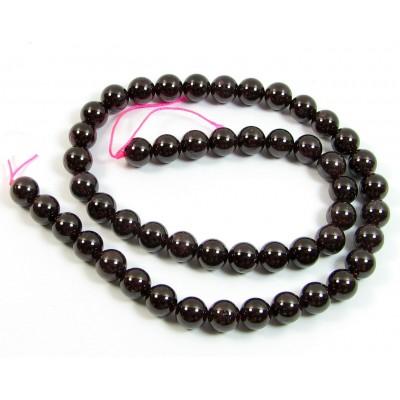1 Strand of 6mm Garnet Round Beads