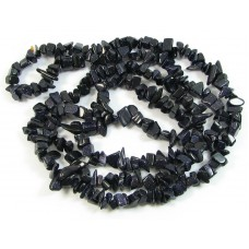 1 Strand Blue Goldstone Chip Beads