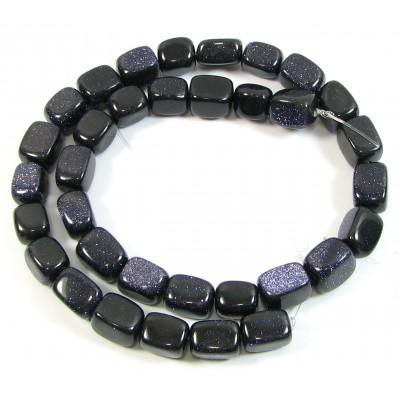1 Strand Blue Goldstone Nugget Beads