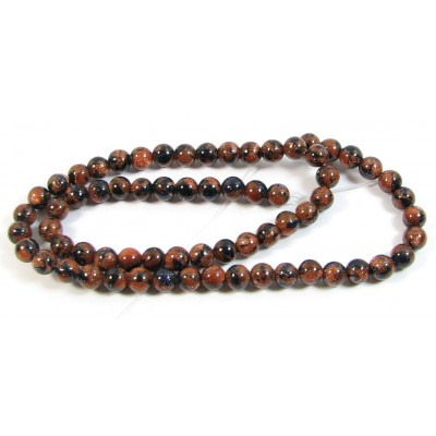 1 Strand Blue and Gold Aventurine Goldstone Round 6mm Beads