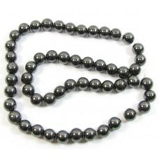 1 Strand Hematite Hematine 8mm Round Beads