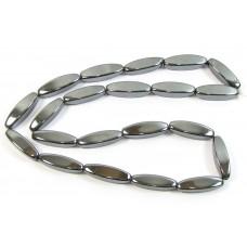 1 Strand of Hematite/Hematine Square Olive Beads