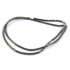 1 Strand Hematite 2mm Tube Beads