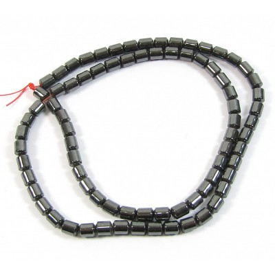 1 Strand Hematite 4mm Tube Beads