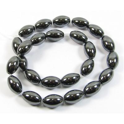 1 Strand Hematite 10mm Oval Beads