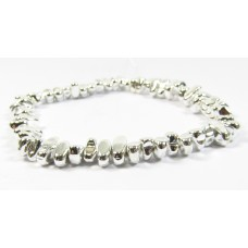 1 Strand Silver Plated Hematite Nugget Beads