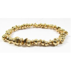 1 Strand Gold Plated Hematite Nugget Beads
