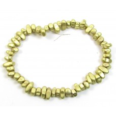 1 Strand Matt Gold Plated Hematite Nugget Beads