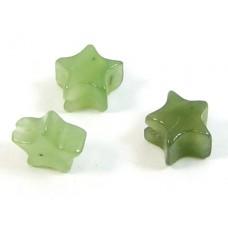 10 Jade Star Beads
