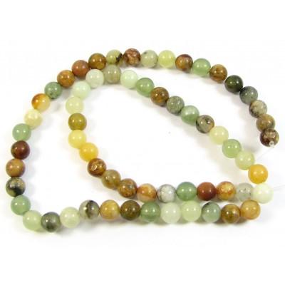 1 Strand 6mm Round Mixed Jade Beads