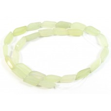 1 Strand Green Jade 16mm Narrow Wave Shaped Beads