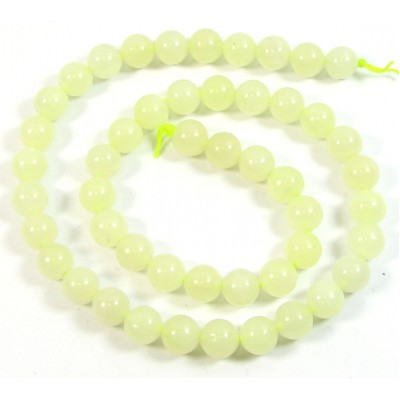1 Strand Jade 8mm Round Beads