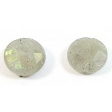 2 Labradorite Coin Beads