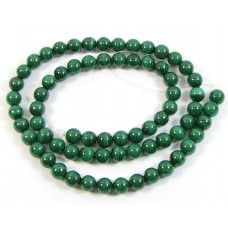 1 Strand 6mm Malachite Round Beads