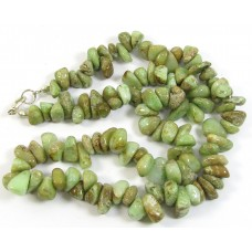 1 Strand Green Chrysoprase Large Chip Beads
