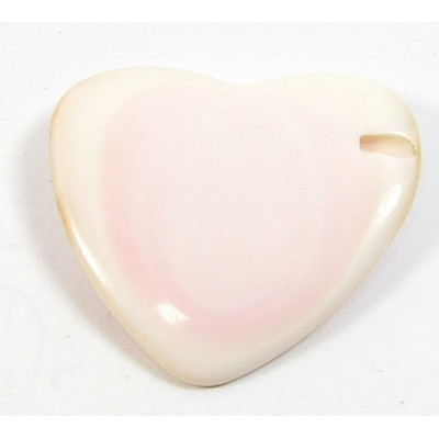 1  20mm Pink Shell Heart Bead